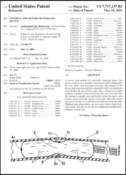 Internal Pipe Repair patent